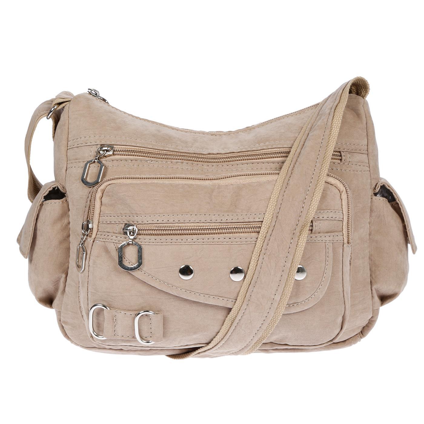 Damenhandtasche-Schultertasche-Tasche-Umhaengetasche-Canvas-Shopper-Crossover-Bag Indexbild 32