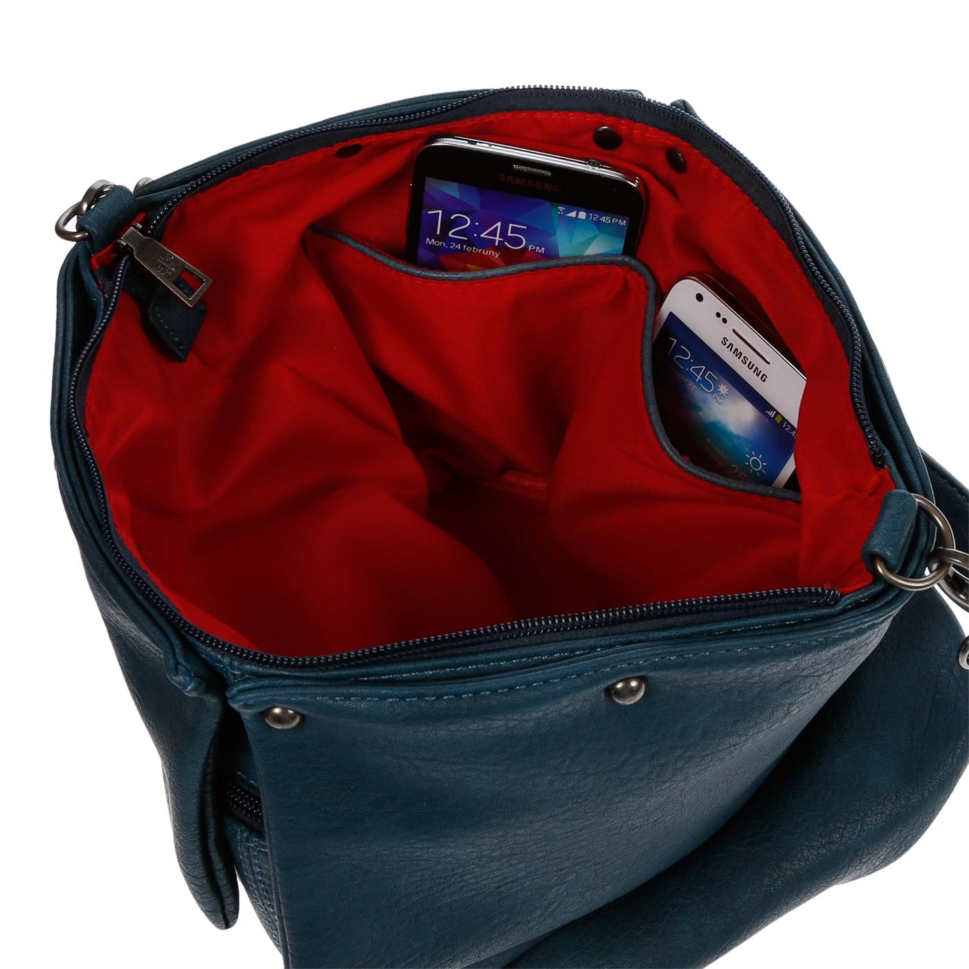 Damentasche-Umhaengetasche-Handtasche-Schultertasche-Leder-Optik-Tasche-Schwarz Indexbild 16