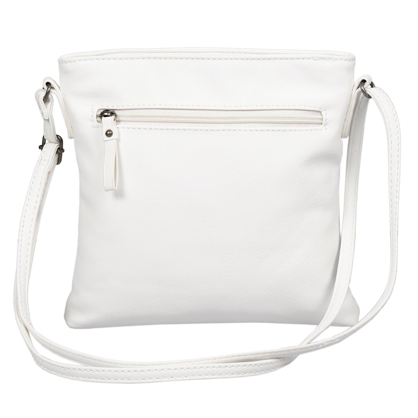 Damen-Handtasche-Umhaengetasche-Schultertasche-Tasche-Leder-Optik-Schwarz-Weiss Indexbild 54