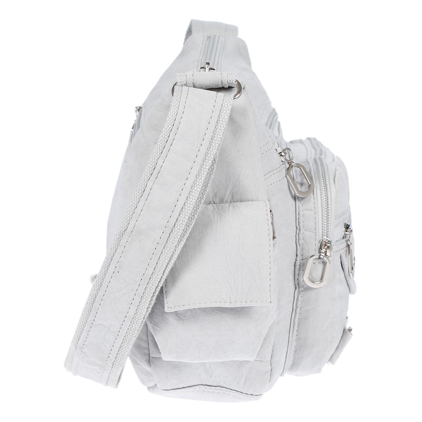 Damenhandtasche-Schultertasche-Tasche-Umhaengetasche-Canvas-Shopper-Crossover-Bag Indexbild 22