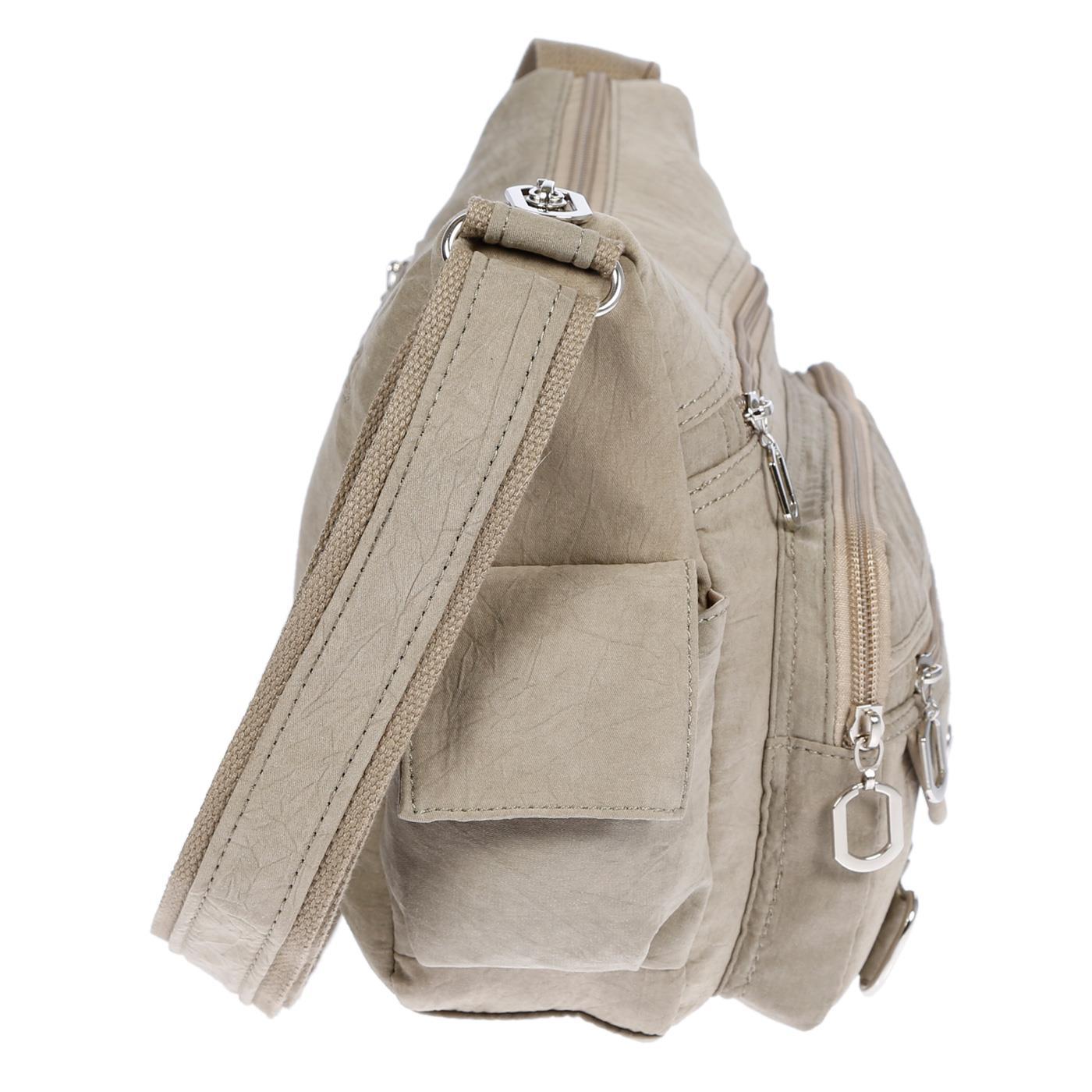 Damenhandtasche-Schultertasche-Tasche-Umhaengetasche-Canvas-Shopper-Crossover-Bag Indexbild 38