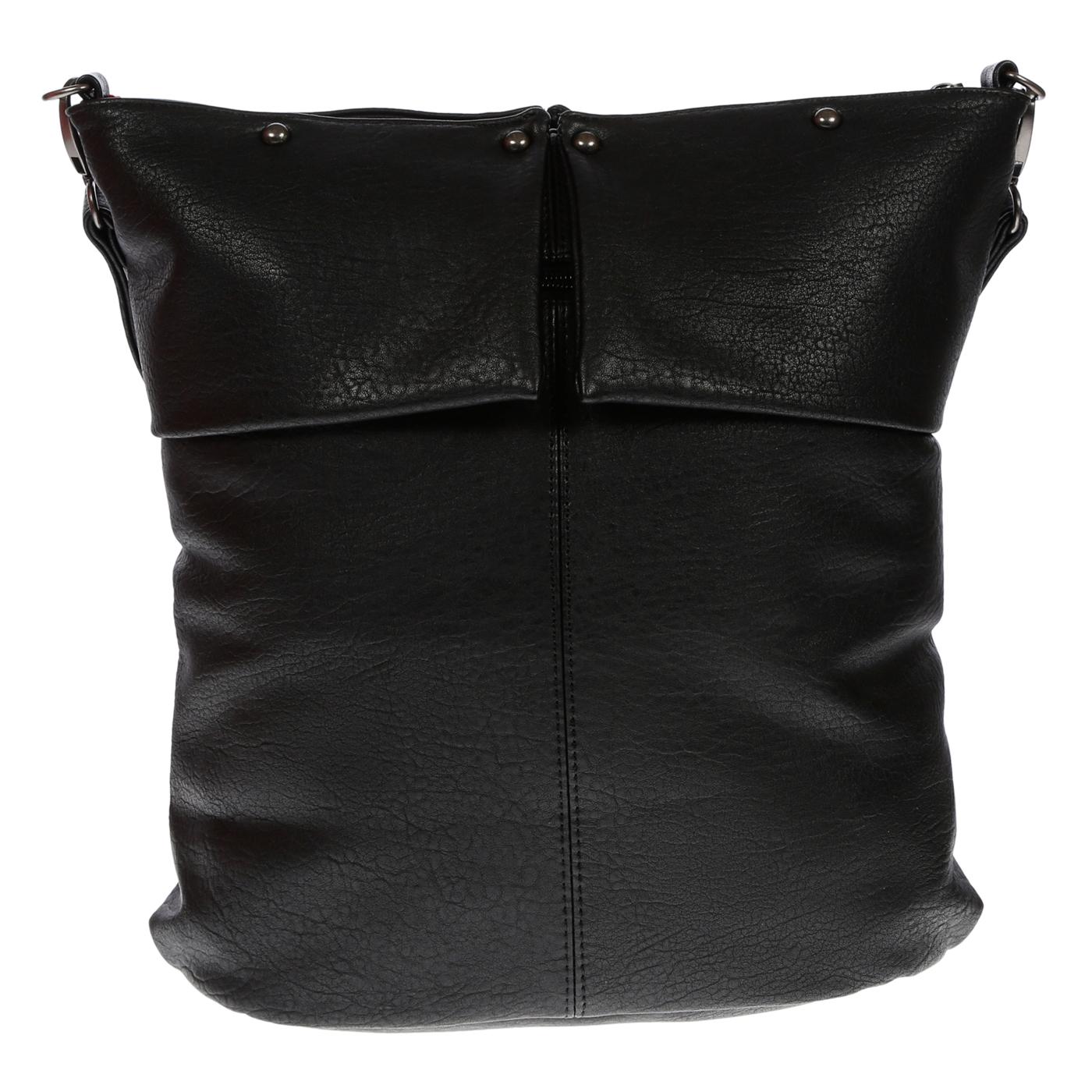 Damentasche-Umhaengetasche-Handtasche-Schultertasche-Leder-Optik-Tasche-Schwarz Indexbild 9