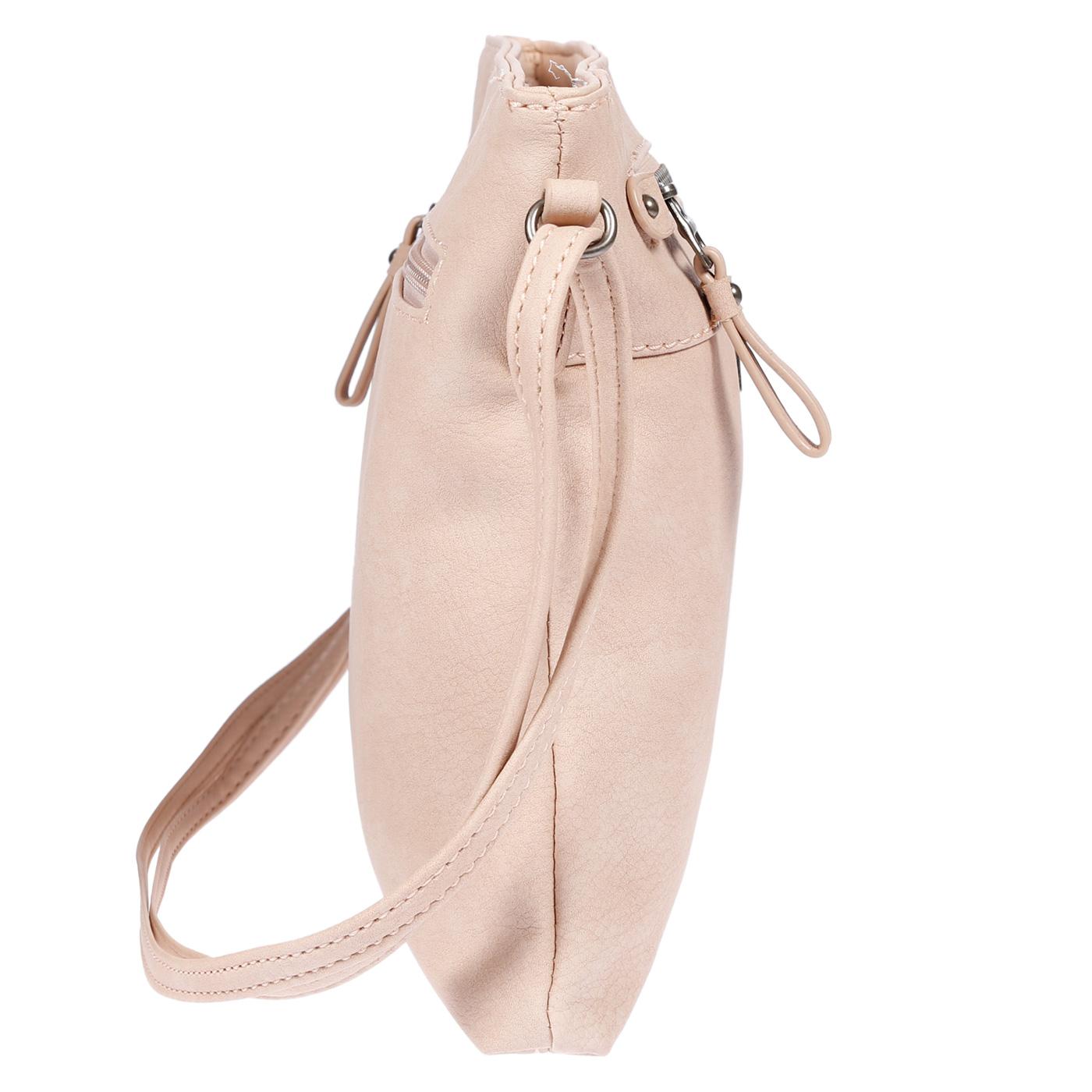 Damen-Handtasche-Umhaengetasche-Schultertasche-Tasche-Leder-Optik-Schwarz-Weiss Indexbild 25