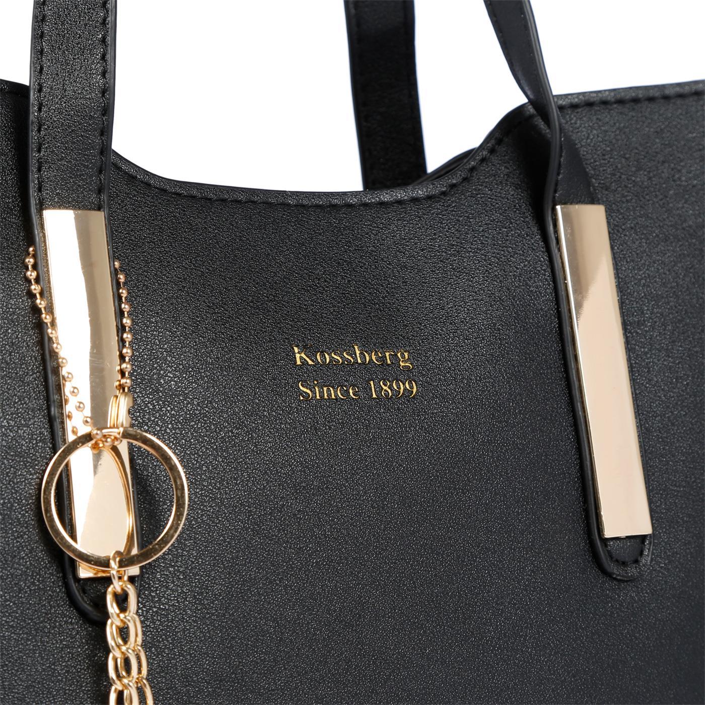 Kossberg-Damen-Tasche-Henkeltasche-Schultertasche-Umhaengetasche-Leder-Optik-Bag Indexbild 20