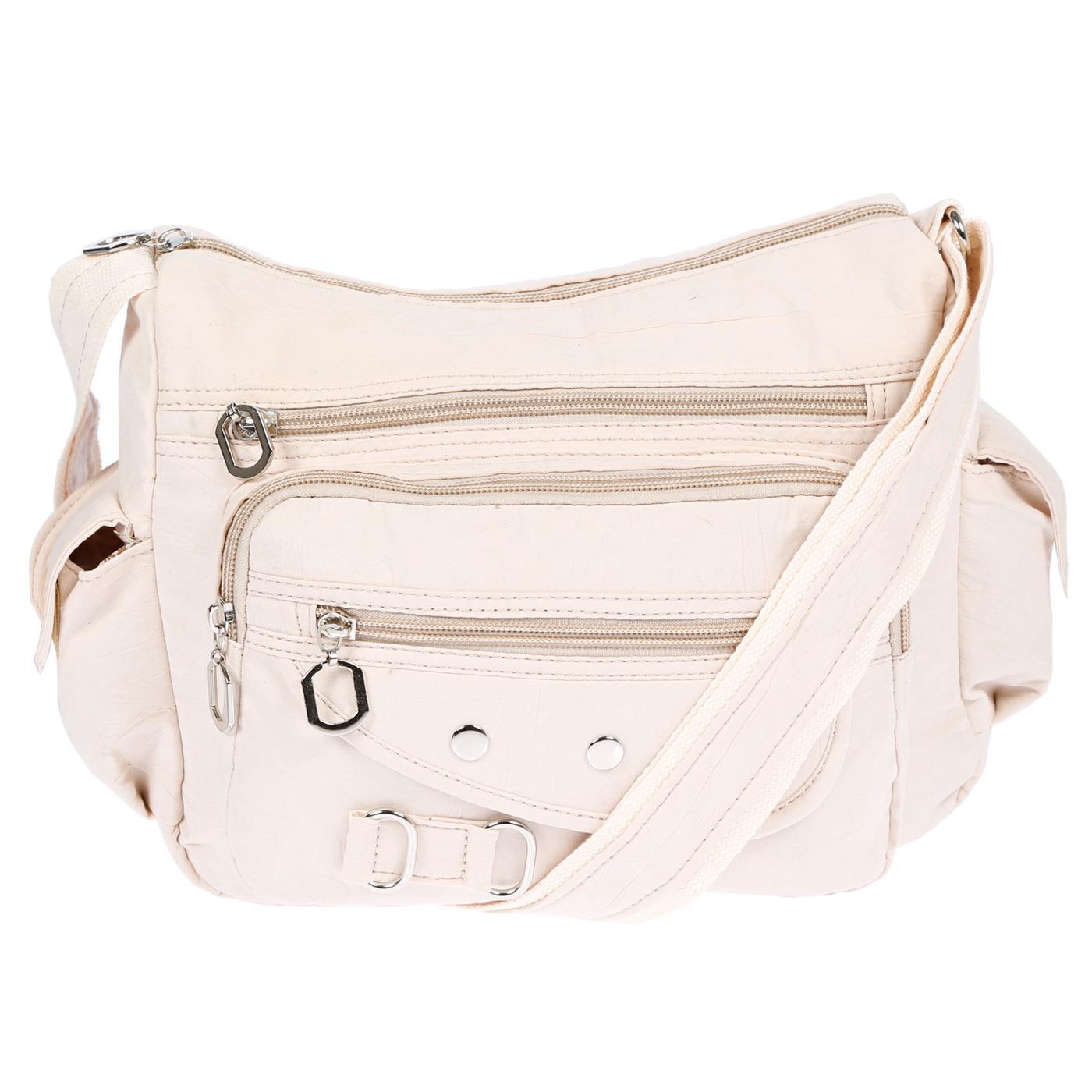 Damenhandtasche-Schultertasche-Tasche-Umhaengetasche-Canvas-Shopper-Crossover-Bag Indexbild 26