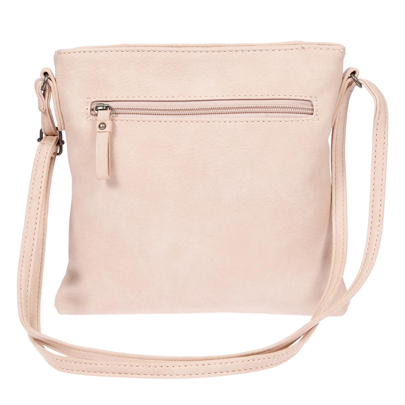 Damen-Handtasche-Umhaengetasche-Schultertasche-Tasche-Leder-Optik-Schwarz-Weiss Indexbild 26