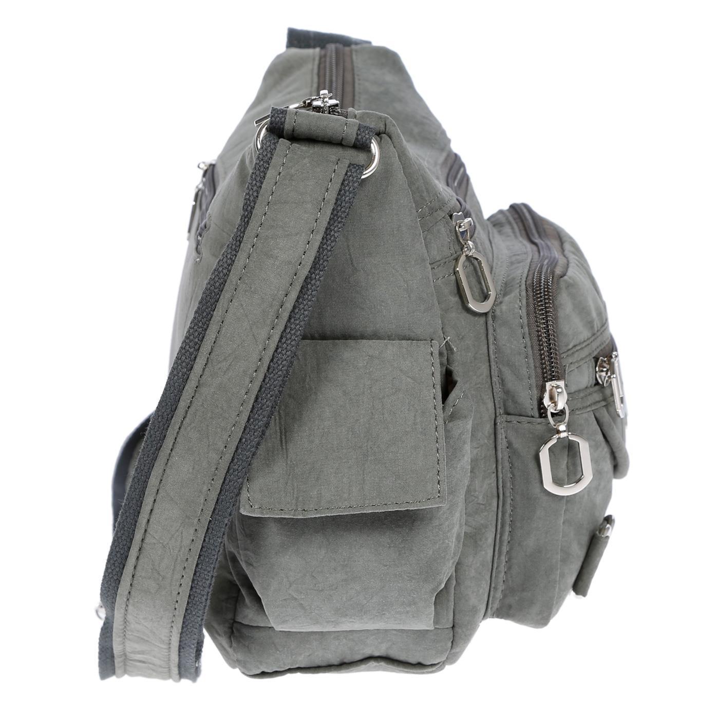 Damenhandtasche-Schultertasche-Tasche-Umhaengetasche-Canvas-Shopper-Crossover-Bag Indexbild 16