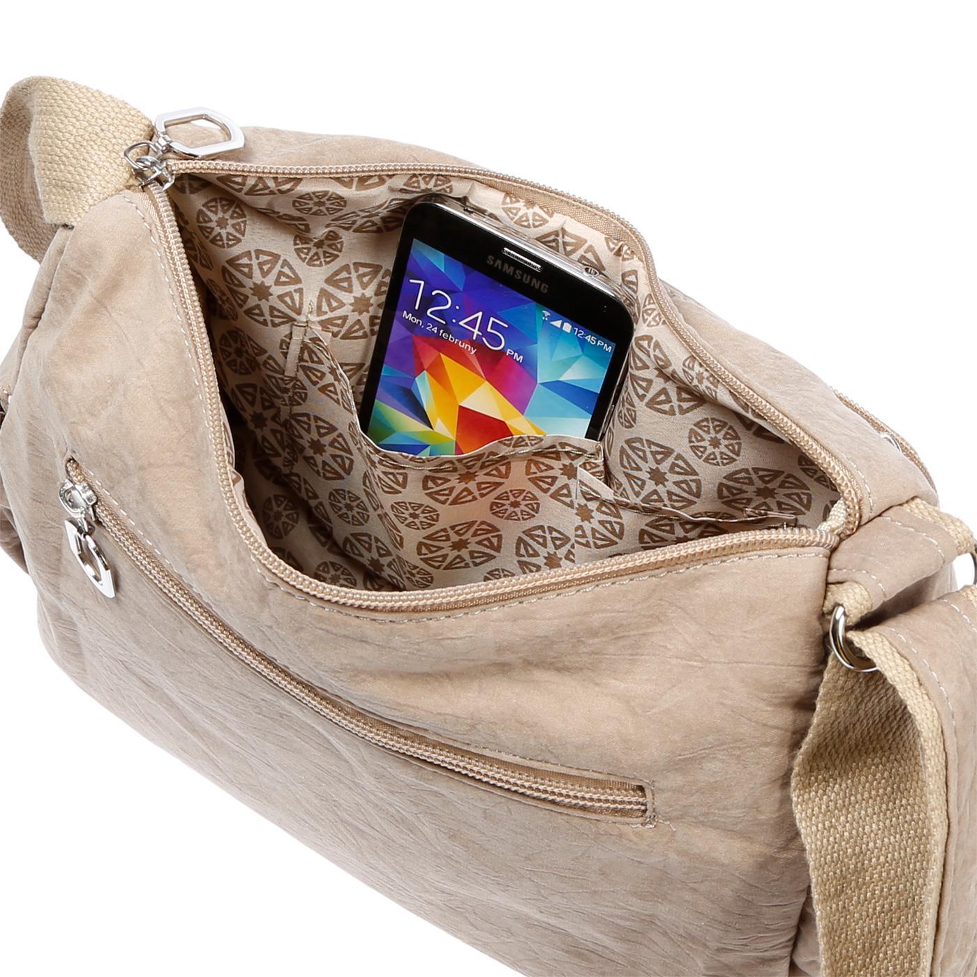 Damenhandtasche-Schultertasche-Tasche-Umhaengetasche-Canvas-Shopper-Crossover-Bag Indexbild 35