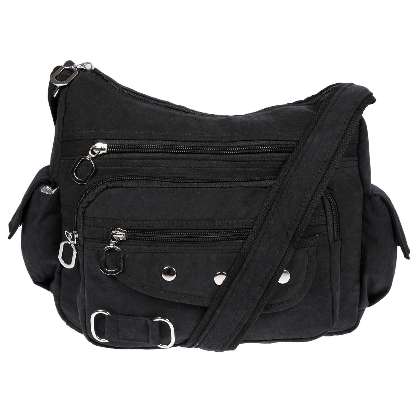Damenhandtasche-Schultertasche-Tasche-Umhaengetasche-Canvas-Shopper-Crossover-Bag Indexbild 4