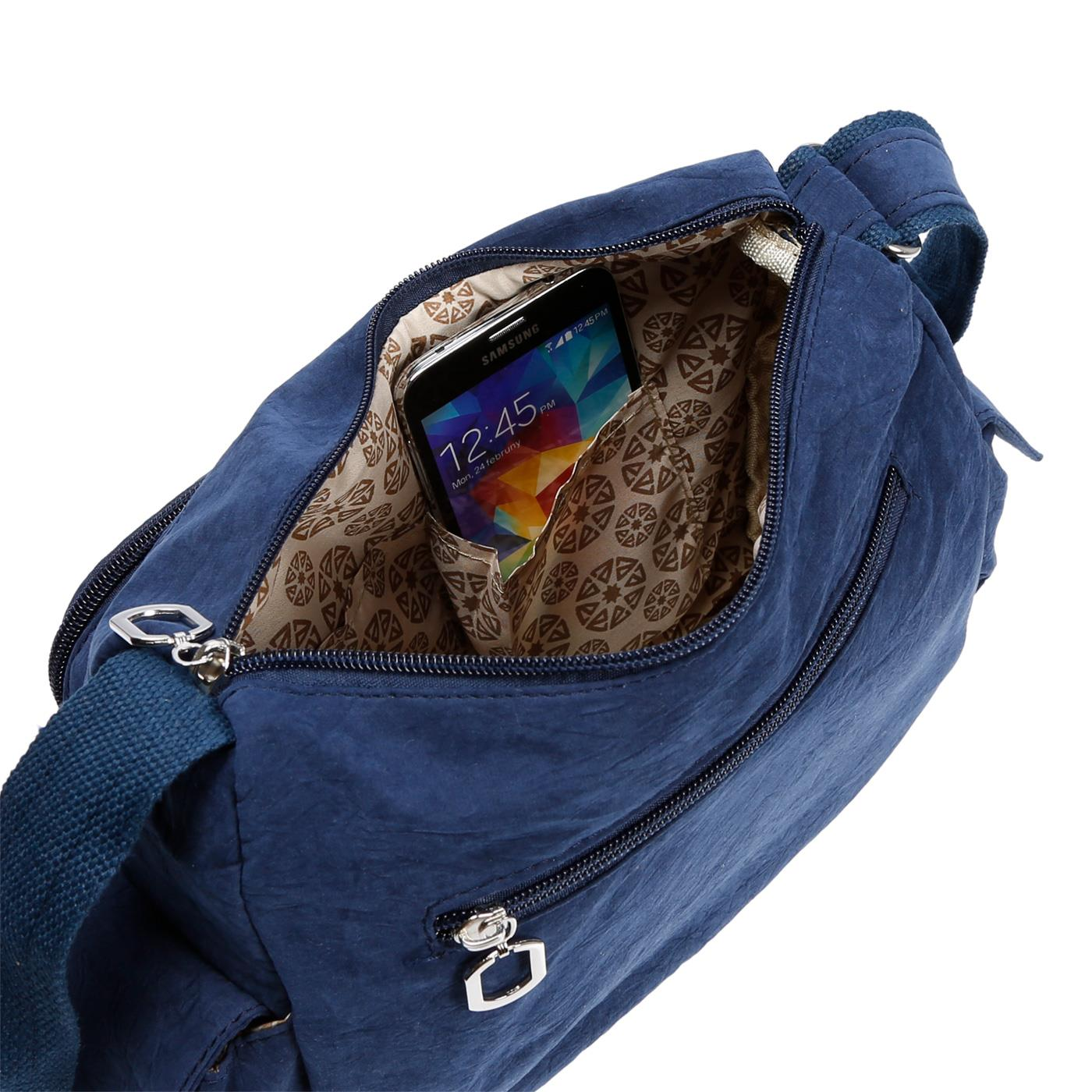 Damenhandtasche-Schultertasche-Tasche-Umhaengetasche-Canvas-Shopper-Crossover-Bag Indexbild 12