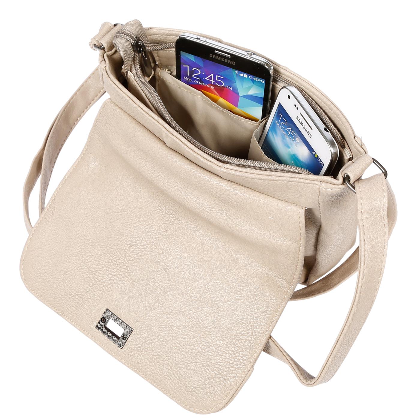 Kleine-Damen-Tasche-Umhaengetasche-Schultertasche-Crossover-Bag-Leder-Optik-NEU Indexbild 26