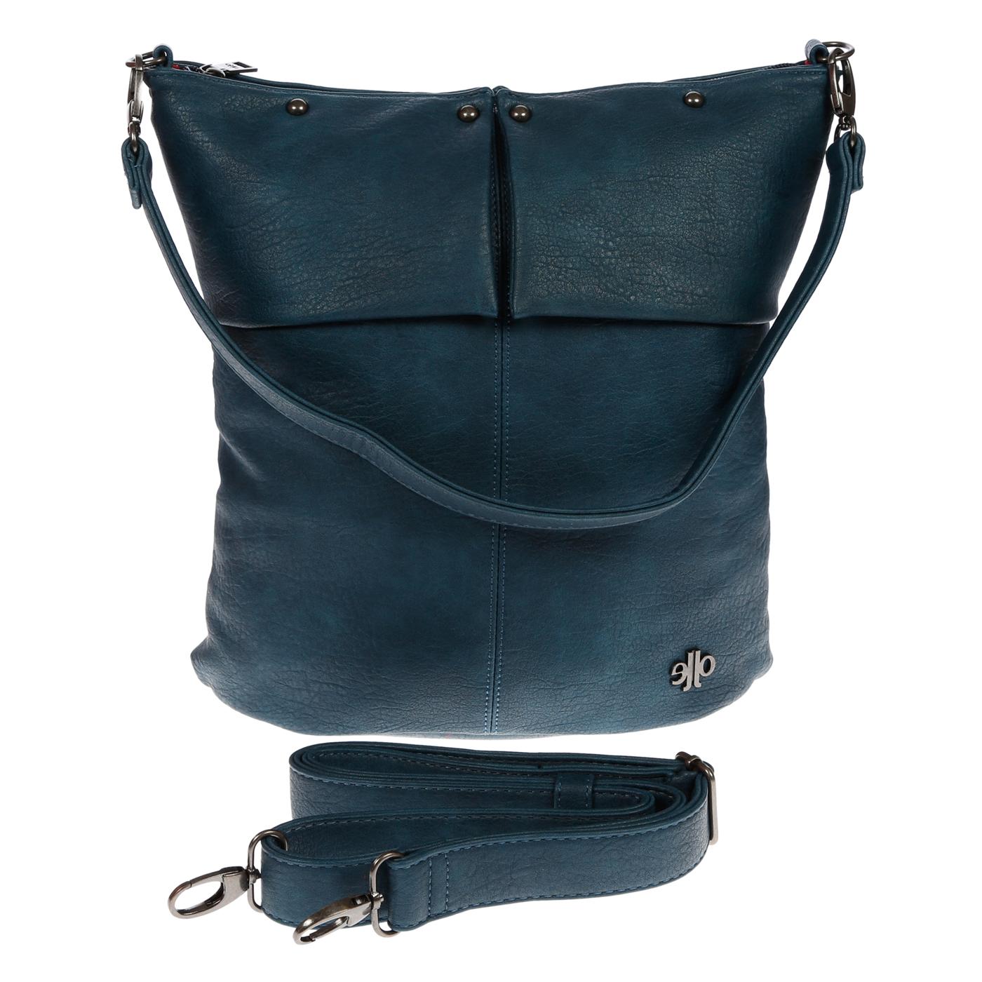 Damentasche-Umhaengetasche-Handtasche-Schultertasche-Leder-Optik-Tasche-Schwarz Indexbild 18