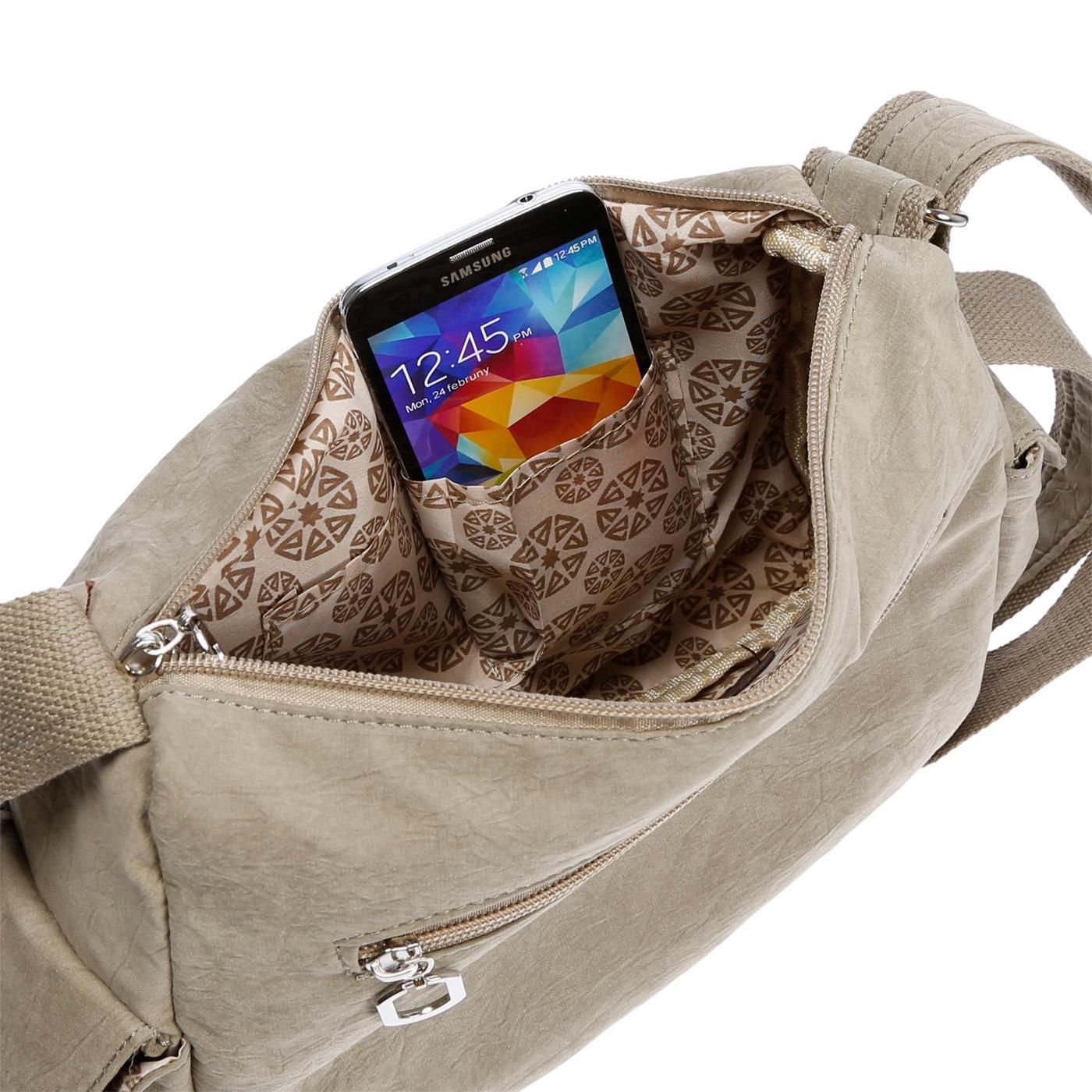 Damenhandtasche-Schultertasche-Tasche-Umhaengetasche-Canvas-Shopper-Crossover-Bag Indexbild 40