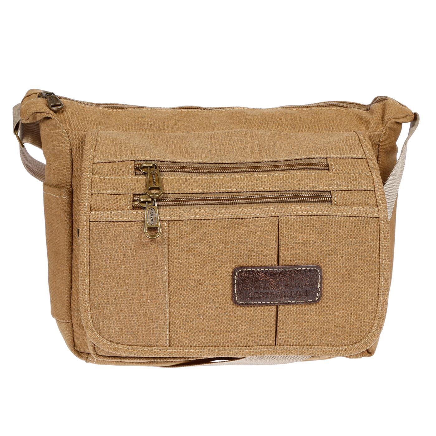 Damen-Tasche-Canvas-Umhaengetasche-Schultertasche-Crossover-Bag-Damenhandtasche Indexbild 44