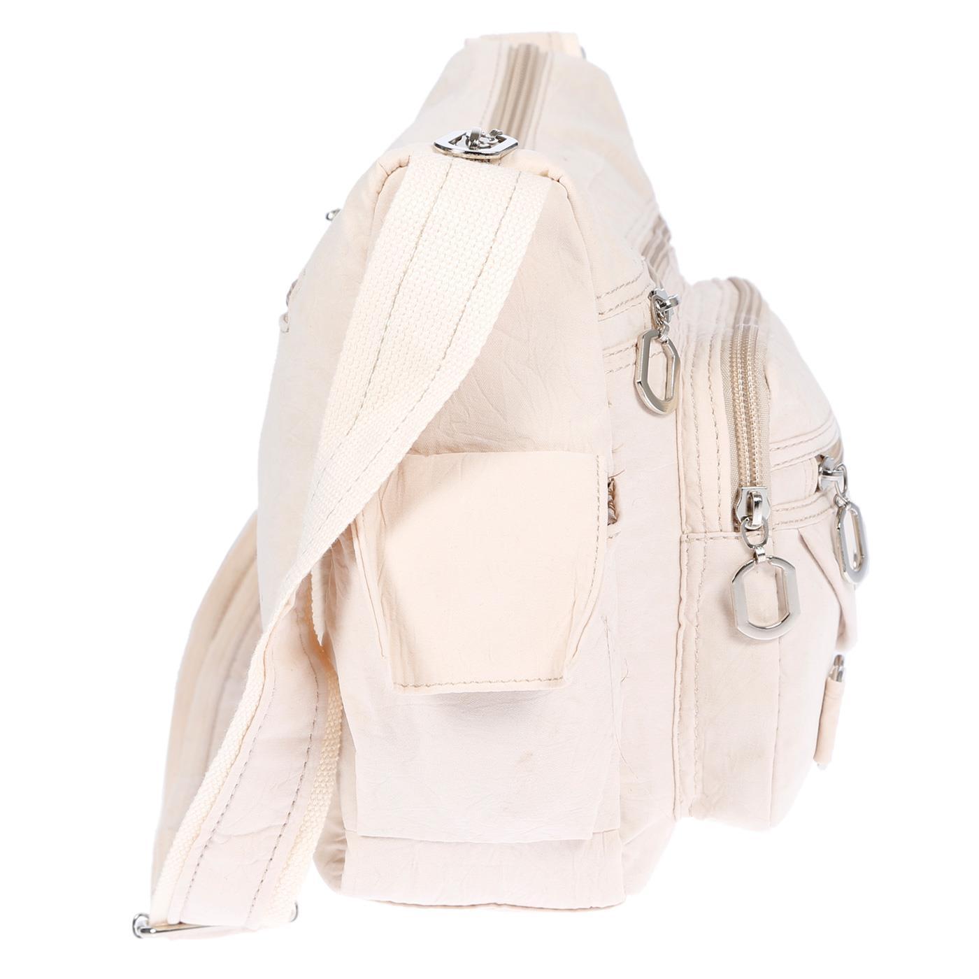Damenhandtasche-Schultertasche-Tasche-Umhaengetasche-Canvas-Shopper-Crossover-Bag Indexbild 27