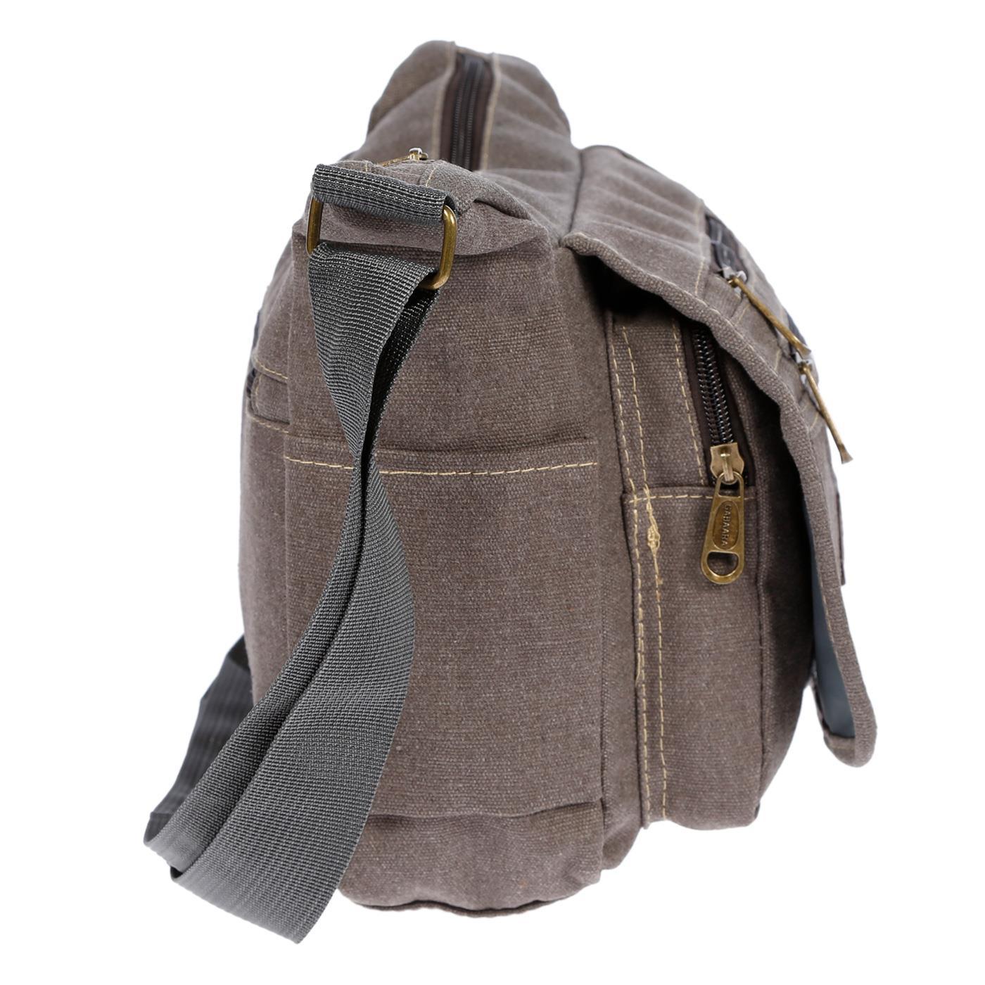 Damen-Tasche-Canvas-Umhaengetasche-Schultertasche-Crossover-Bag-Damenhandtasche Indexbild 33