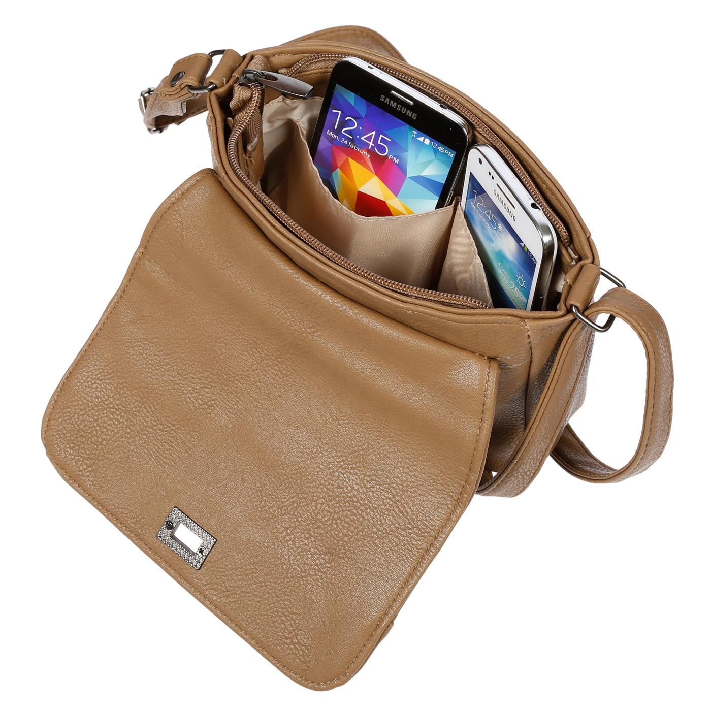 Kleine-Damen-Tasche-Umhaengetasche-Schultertasche-Crossover-Bag-Leder-Optik-NEU Indexbild 34