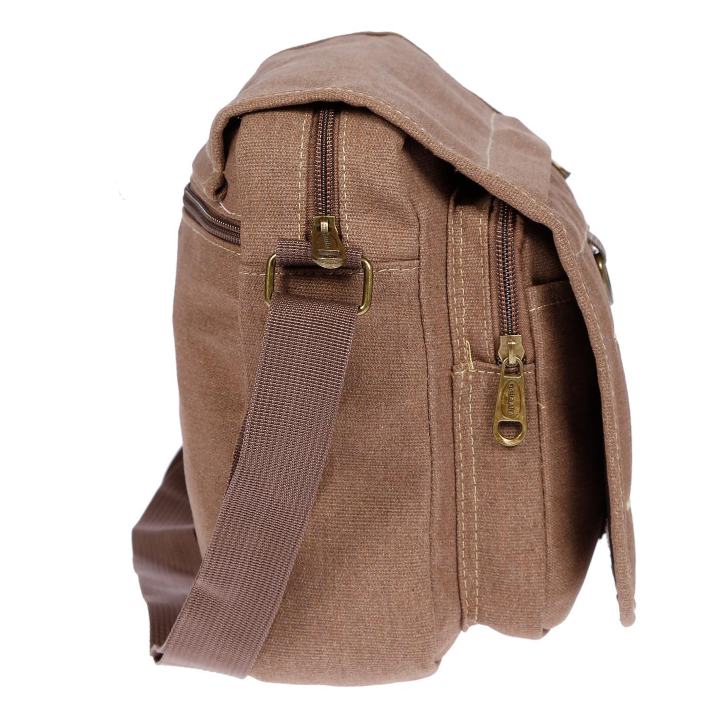 Damen-Herren-Tasche-Canvas-Umhaengetasche-Schultertasche-Crossover-Bag-Handtasche Indexbild 23
