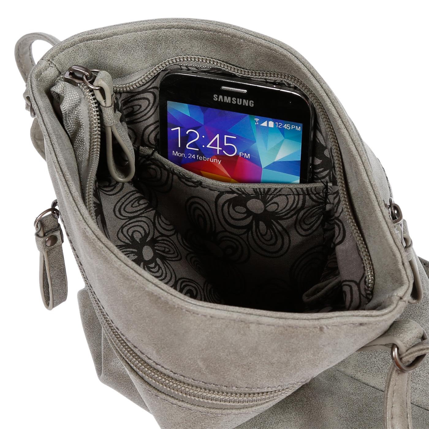 Damen-Handtasche-Umhaengetasche-Schultertasche-Tasche-Leder-Optik-Schwarz-Weiss Indexbild 41