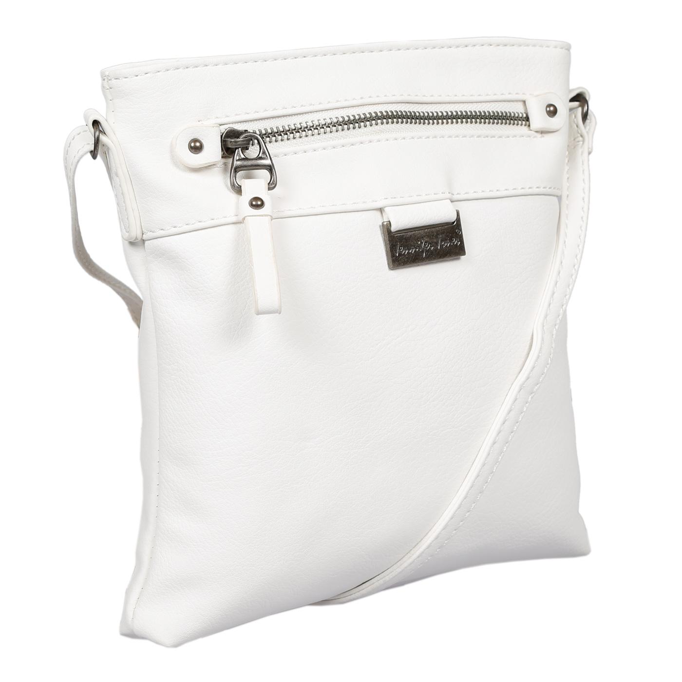 Damen-Handtasche-Umhaengetasche-Schultertasche-Tasche-Leder-Optik-Schwarz-Weiss Indexbild 52