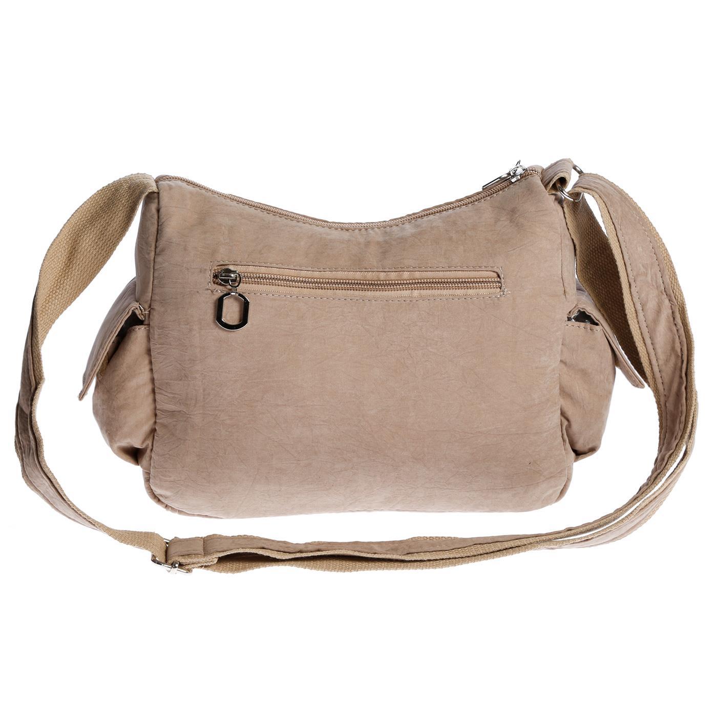 Damenhandtasche-Schultertasche-Tasche-Umhaengetasche-Canvas-Shopper-Crossover-Bag Indexbild 34
