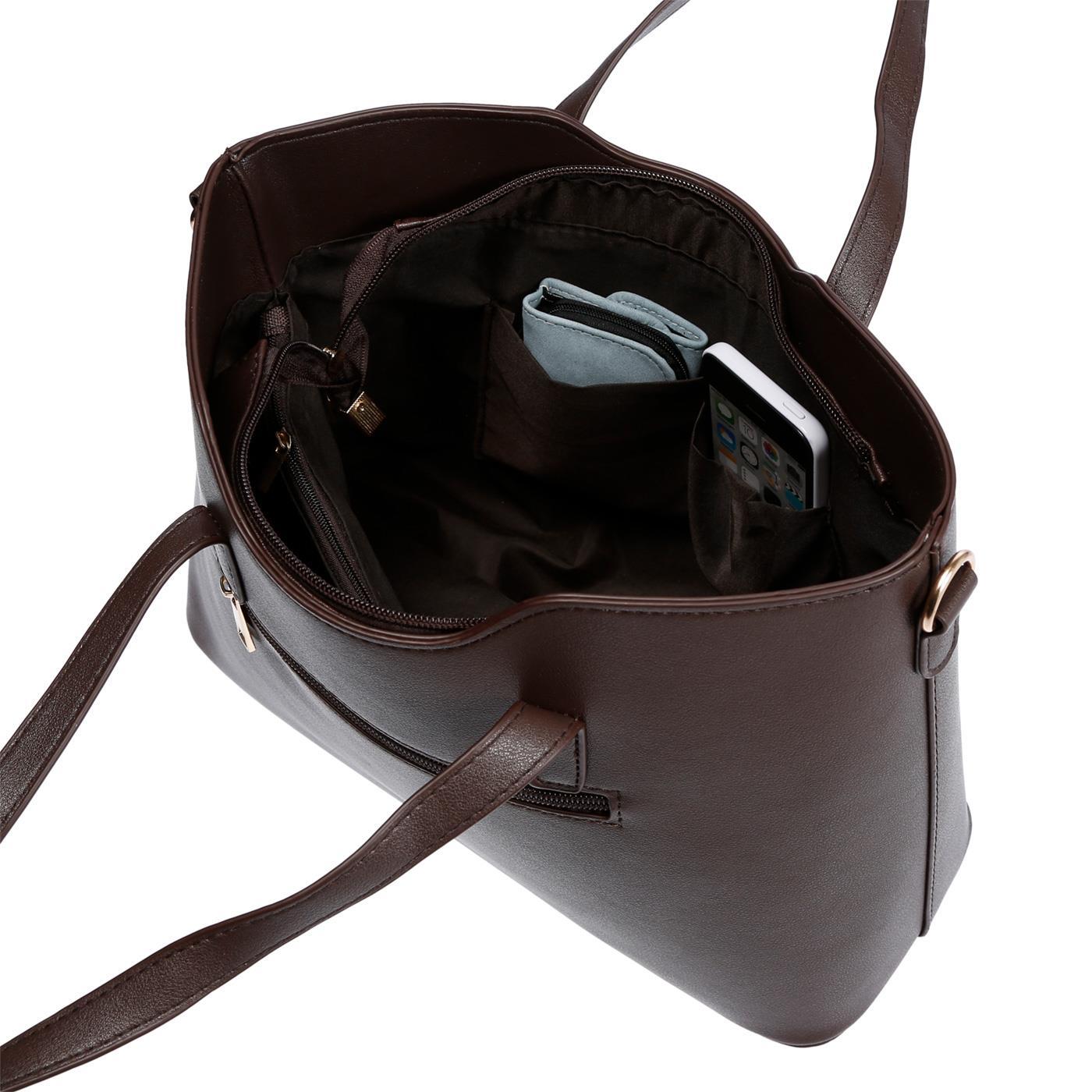 Kossberg-Damen-Tasche-Henkeltasche-Schultertasche-Umhaengetasche-Leder-Optik-Bag Indexbild 42