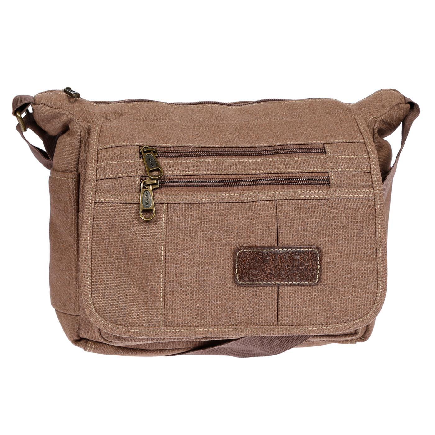 Damen-Tasche-Canvas-Umhaengetasche-Schultertasche-Crossover-Bag-Damenhandtasche Indexbild 26
