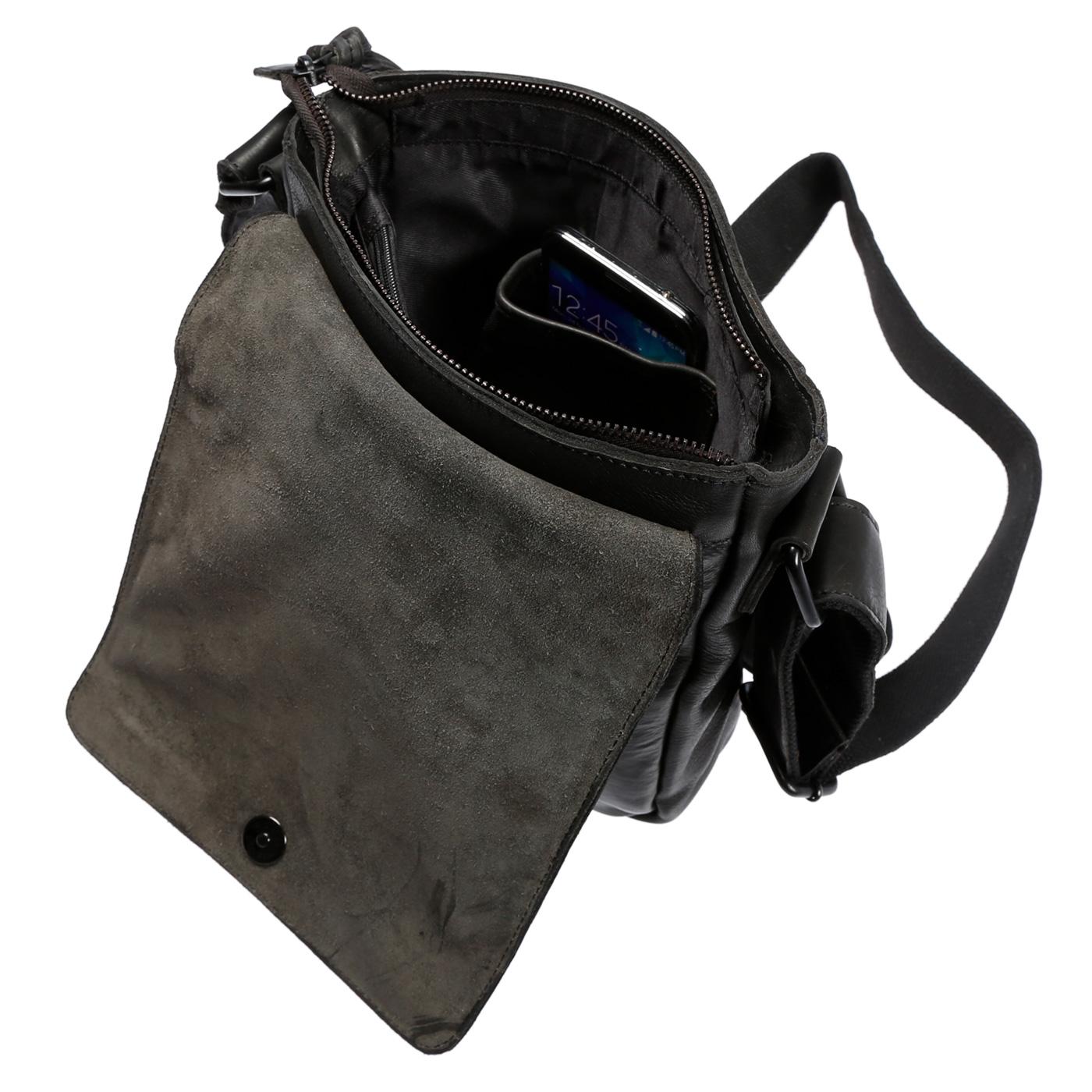 Echt-Leder-Herren-Damen-Umhaengetasche-Tasche-RFID-Schutz-Schultertasche-Umhaenger Indexbild 21