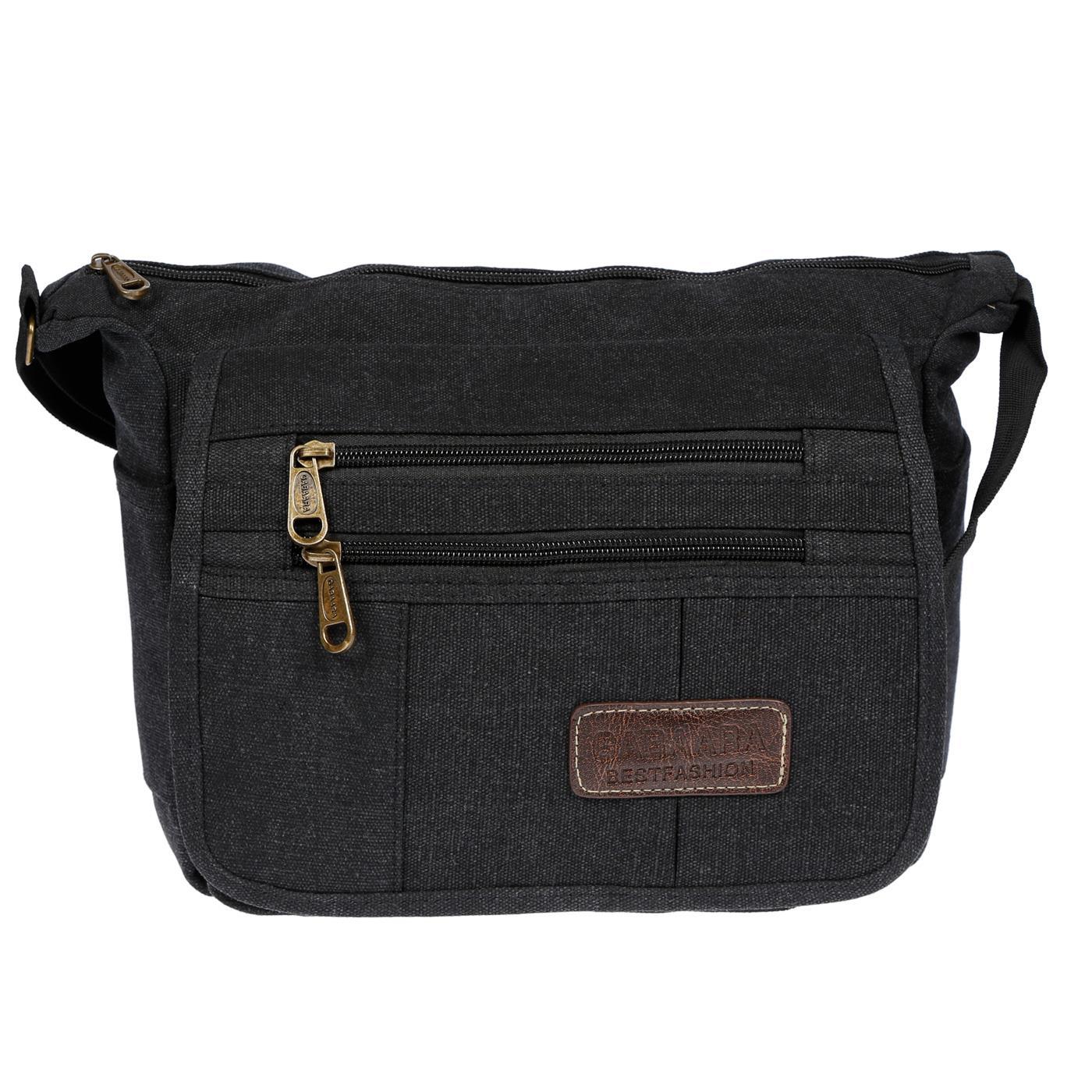 Damen-Tasche-Canvas-Umhaengetasche-Schultertasche-Crossover-Bag-Damenhandtasche Indexbild 14
