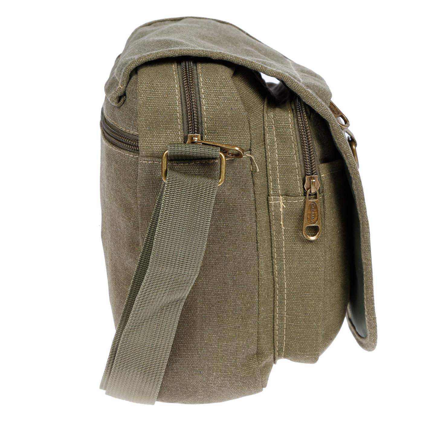 Damen-Herren-Tasche-Canvas-Umhaengetasche-Schultertasche-Crossover-Bag-Handtasche Indexbild 38