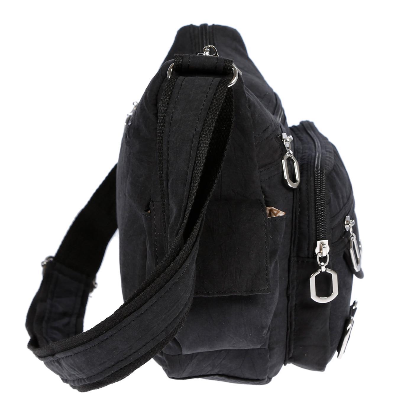 Damenhandtasche-Schultertasche-Tasche-Umhaengetasche-Canvas-Shopper-Crossover-Bag Indexbild 5