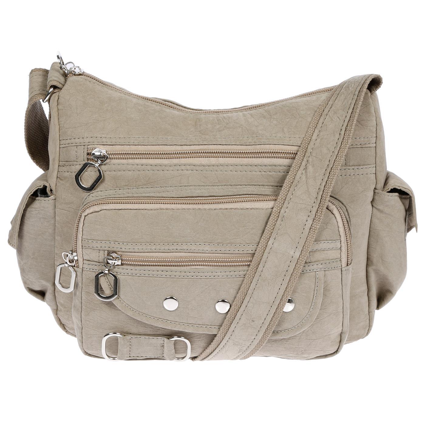 Damenhandtasche-Schultertasche-Tasche-Umhaengetasche-Canvas-Shopper-Crossover-Bag Indexbild 37