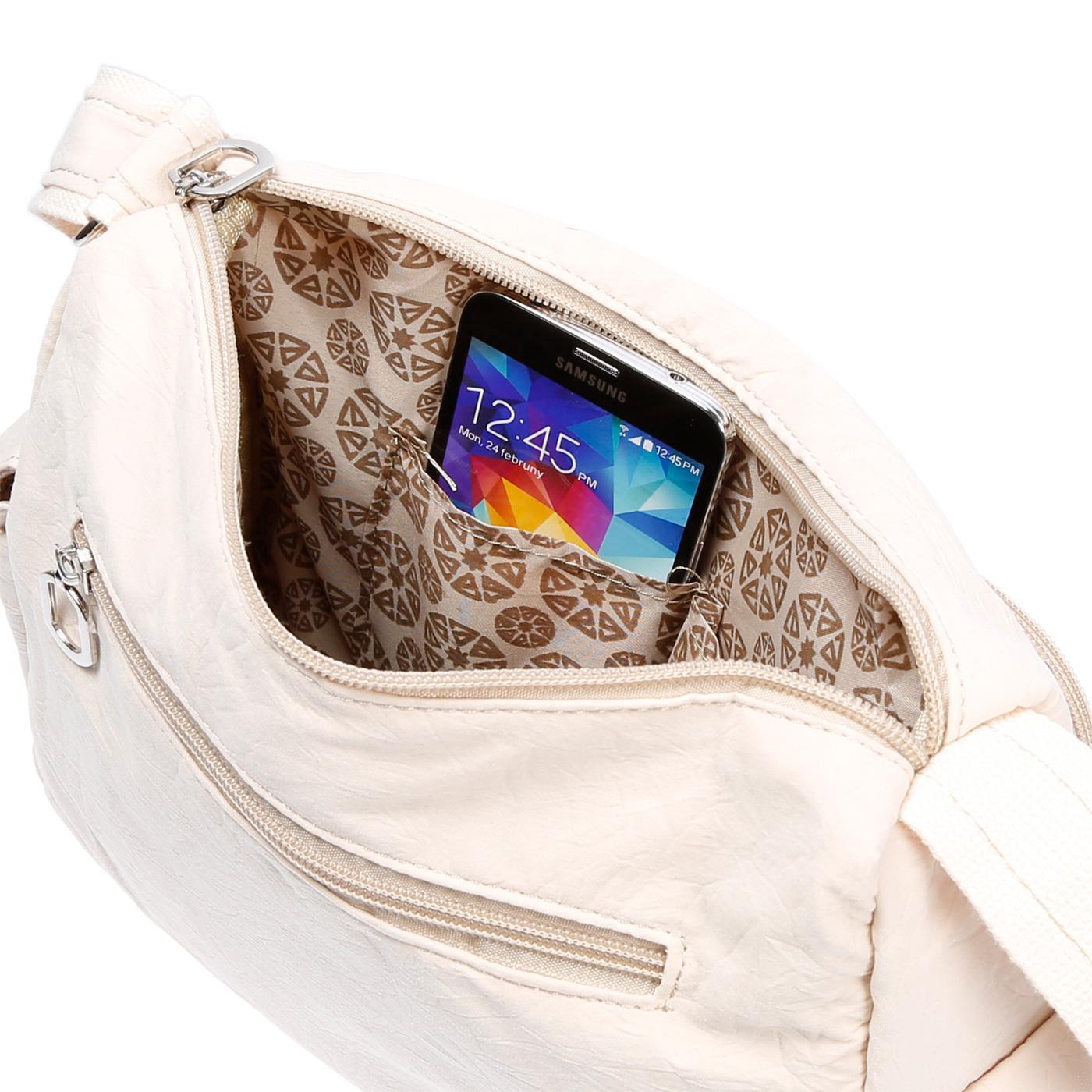 Damenhandtasche-Schultertasche-Tasche-Umhaengetasche-Canvas-Shopper-Crossover-Bag Indexbild 29