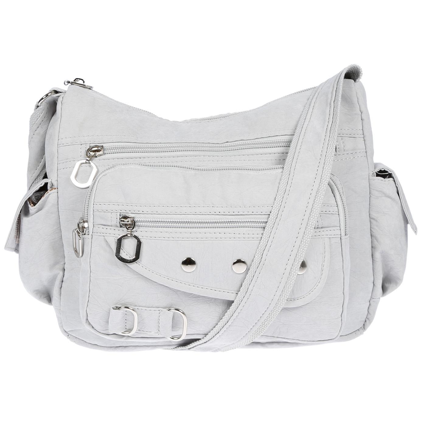 Damenhandtasche-Schultertasche-Tasche-Umhaengetasche-Canvas-Shopper-Crossover-Bag Indexbild 21