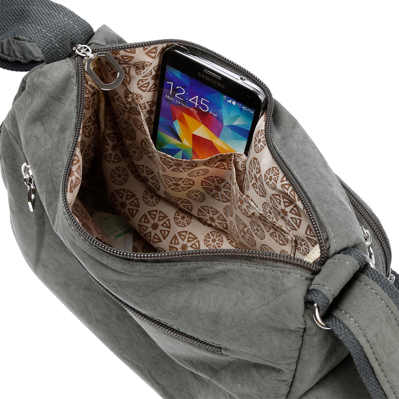 Damenhandtasche-Schultertasche-Tasche-Umhaengetasche-Canvas-Shopper-Crossover-Bag Indexbild 18