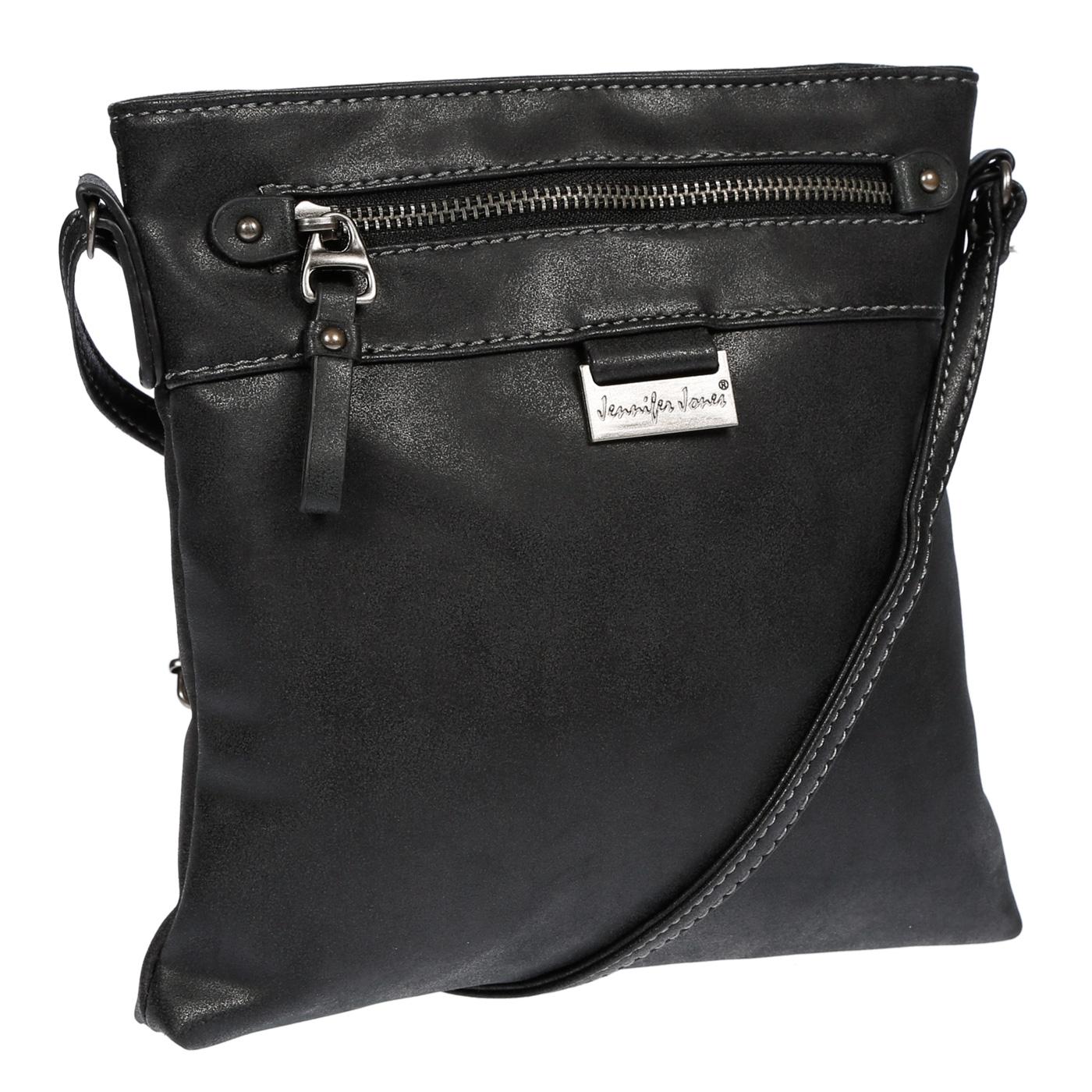 Damen-Handtasche-Umhaengetasche-Schultertasche-Tasche-Leder-Optik-Schwarz-Weiss Indexbild 10