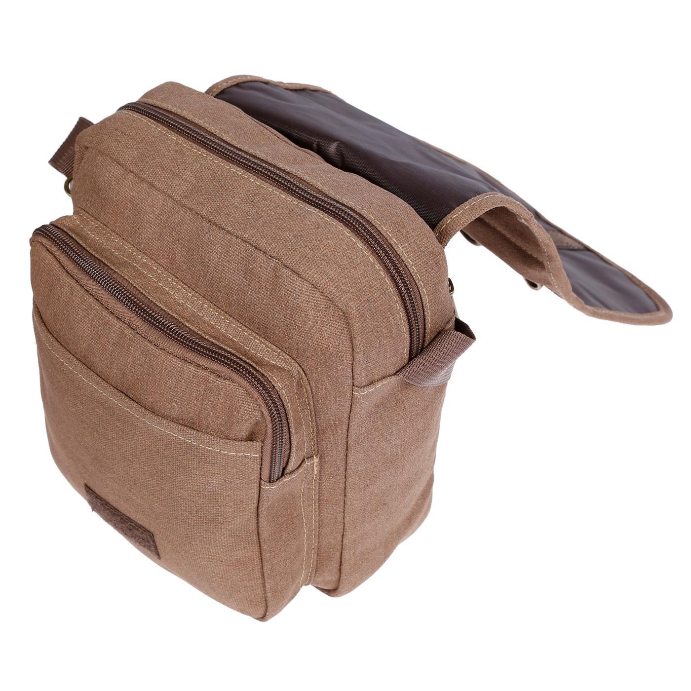 Damen-Herren-Tasche-Canvas-Umhaengetasche-Schultertasche-Crossover-Bag-Handtasche Indexbild 25