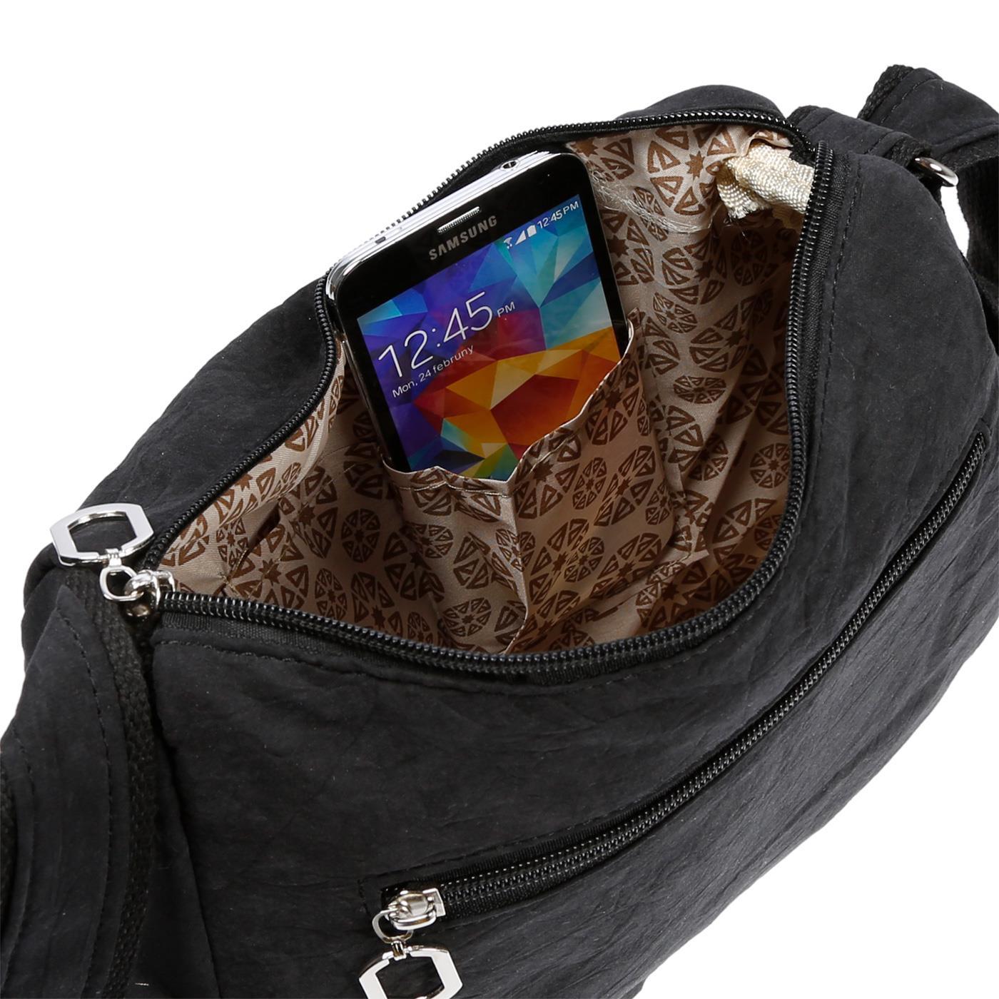 Damenhandtasche-Schultertasche-Tasche-Umhaengetasche-Canvas-Shopper-Crossover-Bag Indexbild 7