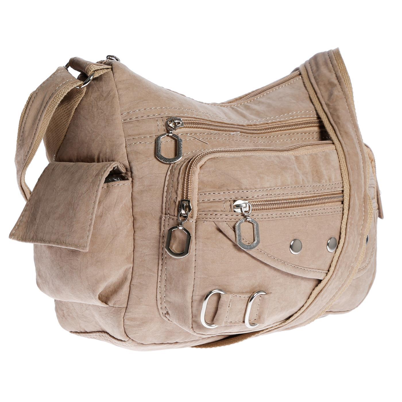 Damenhandtasche-Schultertasche-Tasche-Umhaengetasche-Canvas-Shopper-Crossover-Bag Indexbild 31