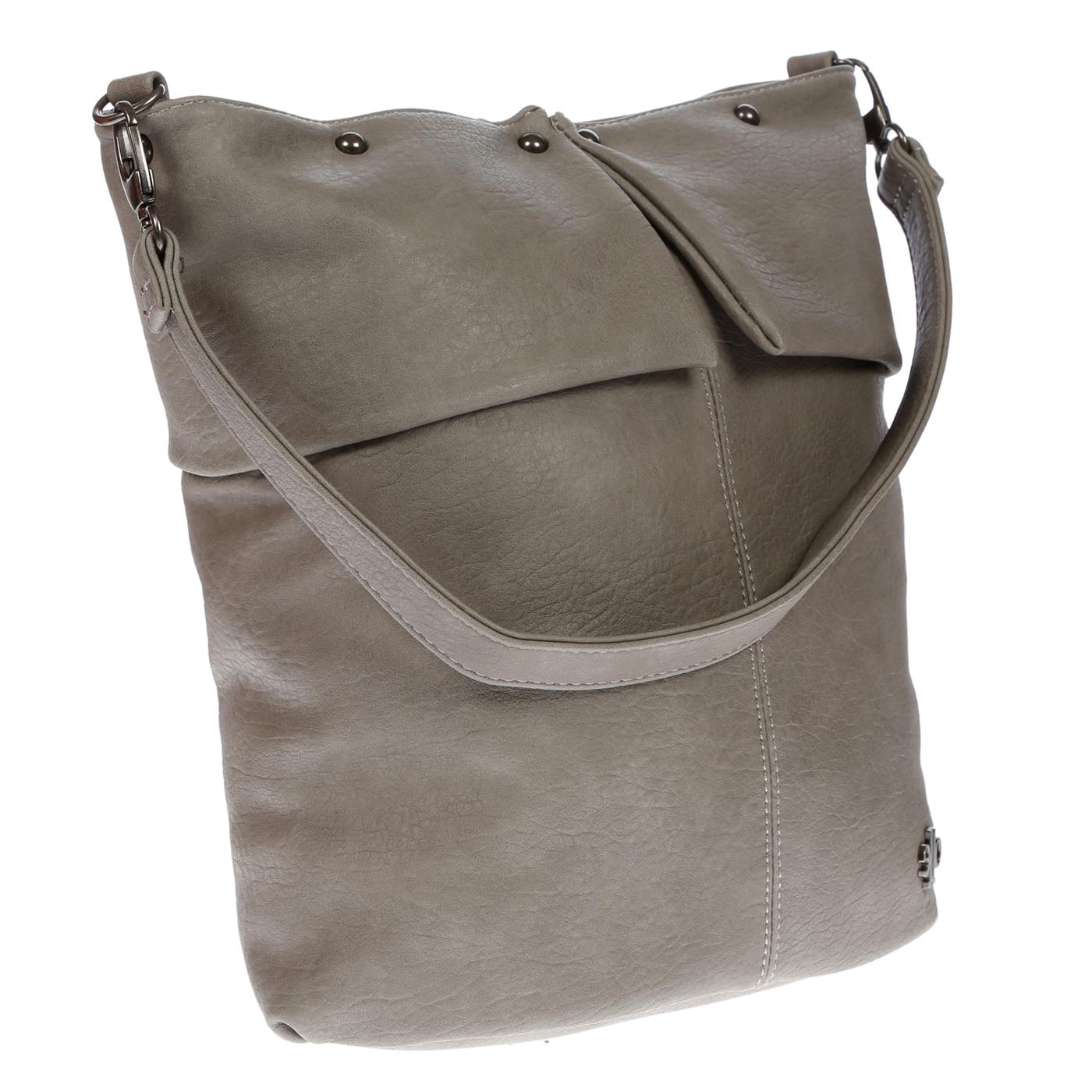 Damentasche-Umhaengetasche-Handtasche-Schultertasche-Leder-Optik-Tasche-Schwarz Indexbild 21