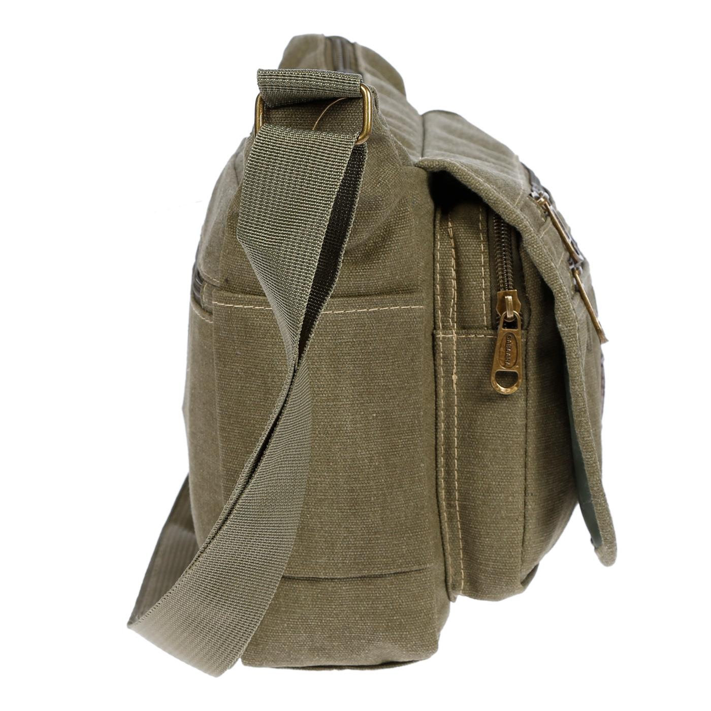 Damen-Tasche-Canvas-Umhaengetasche-Schultertasche-Crossover-Bag-Damenhandtasche Indexbild 39