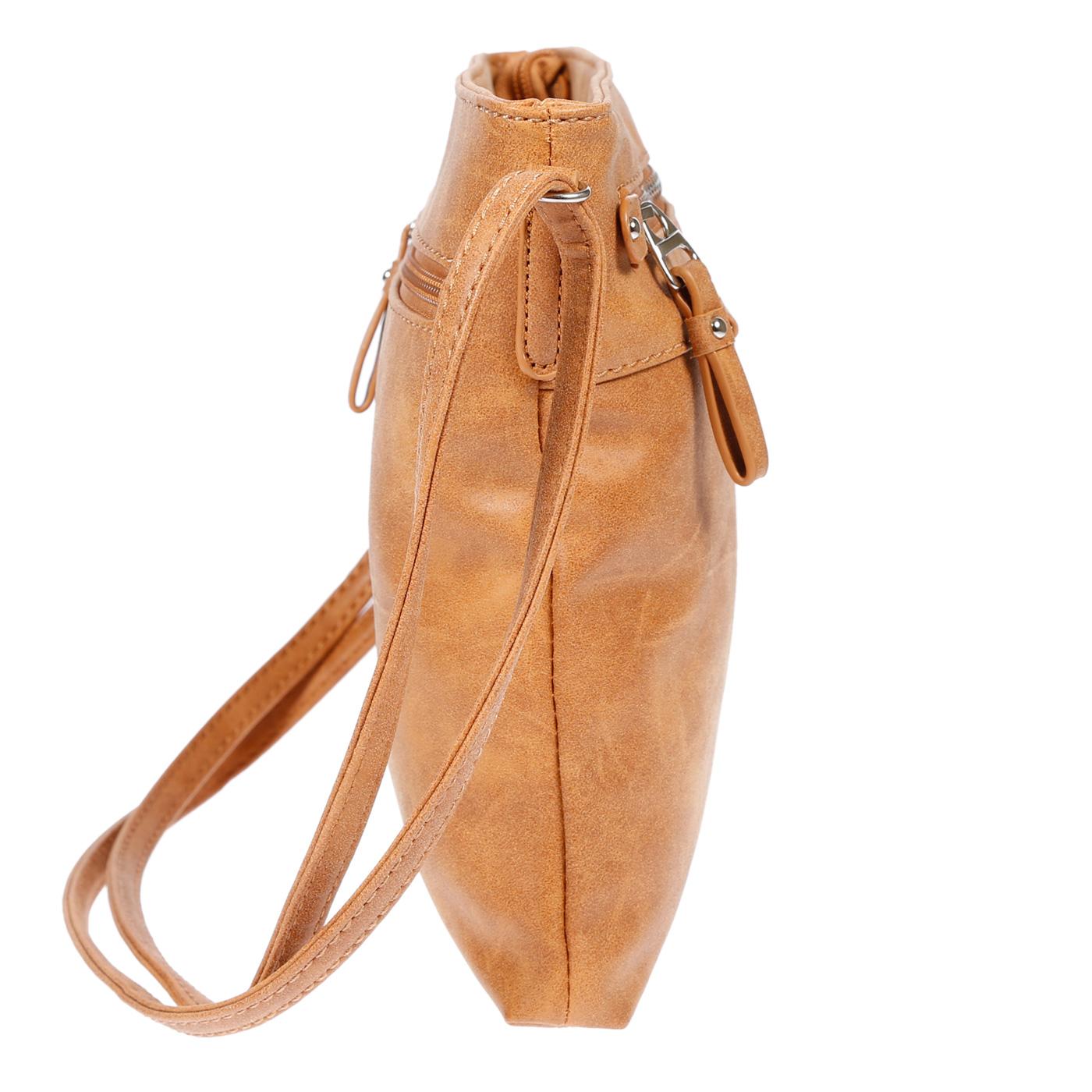 Damen-Handtasche-Umhaengetasche-Schultertasche-Tasche-Leder-Optik-Schwarz-Weiss Indexbild 32