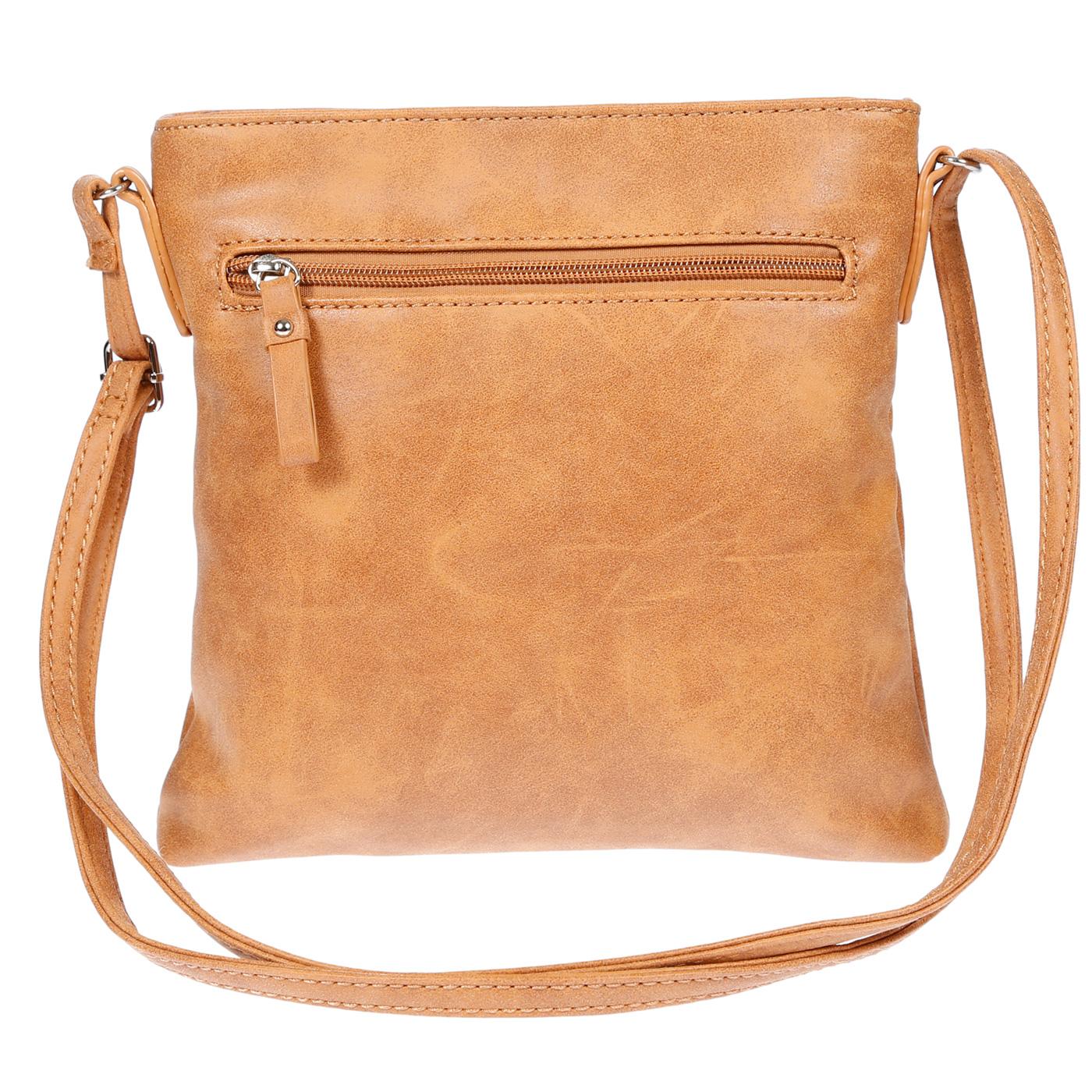 Damen-Handtasche-Umhaengetasche-Schultertasche-Tasche-Leder-Optik-Schwarz-Weiss Indexbild 33