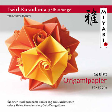 Kusudama Origamipapier Gelb Orange Hellorange Kusudama Mit