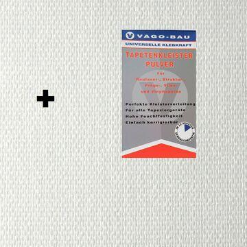 Kleber 2x25m² Glasfasertapete Glasfasergewebe Doppelkette fein Tapete 140g