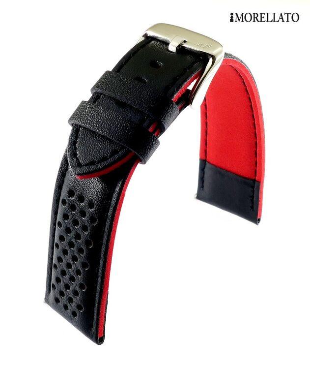 EULIT Technikleder Uhrenarmband Lorica Sport royalblau 18 mm wasserfest