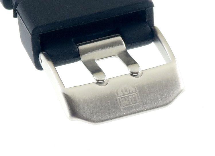 Original Luminox Silikon Uhrenarmband Doppeldorn schwarz-P 23 mm