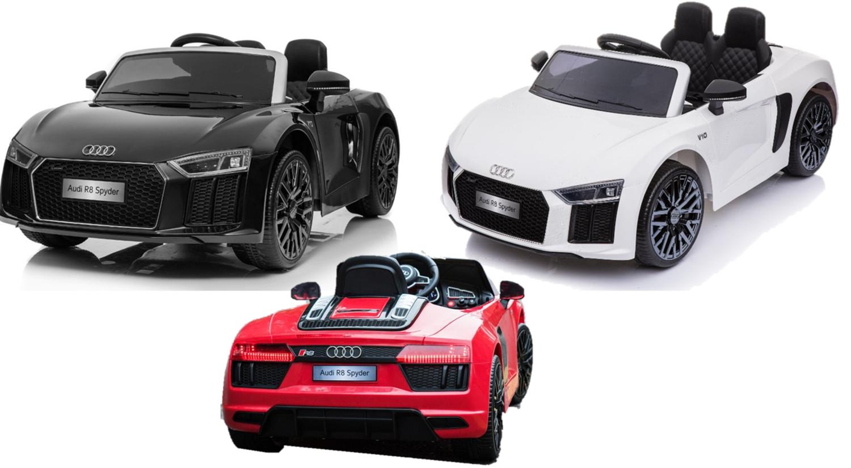 Elektro Auto Audi R8 Kinderfahrzeug lizenziert 12V7AH Akku und 2 Motoren