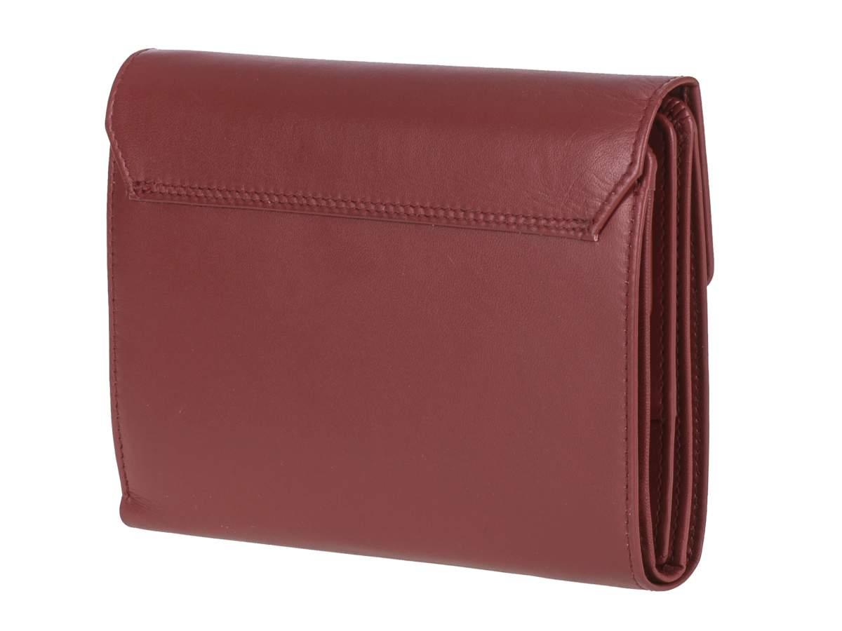 rossa Ladies Esquire in per 20 slot Rfid Portafoglio protezione schede con pelle x7ZUHZ