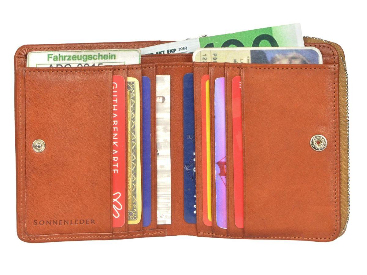 Leder-GeldboerseSin-Herren-der-Reissverschluss-Portemonnaie-Sonnenleder-Sinn Indexbild 23